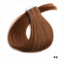 Best quality grade 5a virgin brazilian human hair skin wefts with tape hair extension