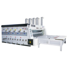 4 colors corrugated carton boxes making machine with chain feeder type printing slotting machine