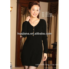 elegant women's cashmere knitting dress