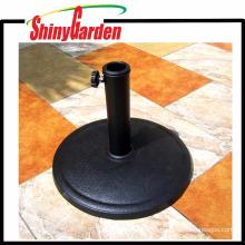 Base de paraguas redonda de resina al aire libre caliente