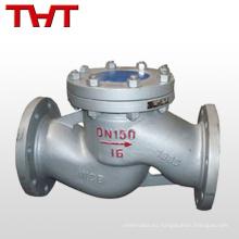 dn150 pn16 elevación de acero tipo válvula de retención válvula de retención tamaño