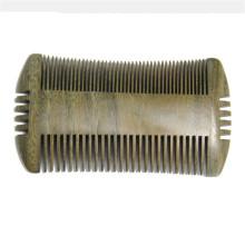 Pente de piolhos de sândalo de barba de madeira FQ marca 4 lado