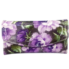 Women summer pastoralism wallet print with beautiful flowers