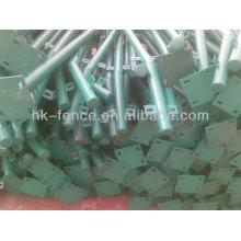 China Fabrik liefern hochwertige temporäre PVC beschichtet Zaunpfosten