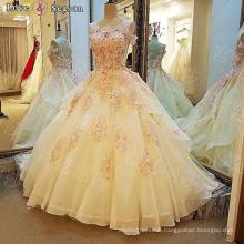 LS00110 O-neck ethnic appliques luxury designer women clothes beaded dress