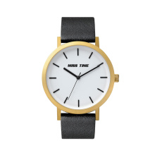 big dial soft leather strap womens watch