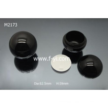 Black Round Ball Shape Plastic Cosmetic Custom Jar
