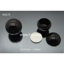 Black Round Ball Shape Plastic Cosmetic Custom Jar