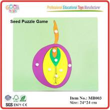 montessori Botany material ,wooden montessori Seed Puzzle