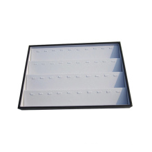 40 Slot White Black Leather Tiers Jewelry Display Pendant Tray
