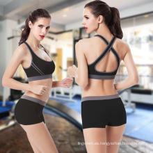 Sostén y panty respirables respirables cómodos de la ropa interior de la yoga del algodón del funcionamiento al por mayor