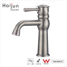 Haijun productos de ultramar sola manija de acero inoxidable grifos del lavabo de agua
