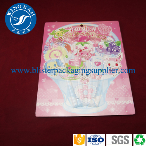 Slider blister packaging, plastic blister packaging