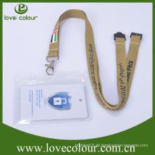 PVC horizontaler oder aufrechter transparenter Abzeichenhalter mit Lanyards