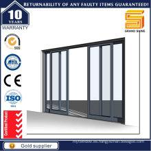 Puerta corredera de aluminio, Puerta de cristal de aluminio
