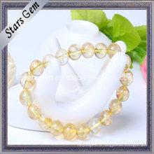 De Boa Qualidade Amarelo Quartz Beads com furo pulseira