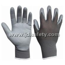 Nylon tricoté travail gants avec mousse Nitrile enduits gant (N1566)