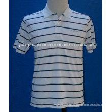 Kundenspezifische Logo Striped Polo Shirts