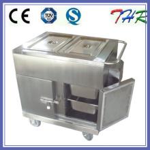 Lleno de acero inoxidable de calefacción eléctrica carrito de alimentos (THR-FC005)
