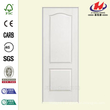 30 in. x 80 in. Solidoor Textured 2-Panel Arch Top Solid Core Primed Composite Single Prehung Interior Door