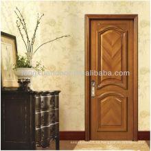 Diseño de Panel Puertas de Madera Sólida Arqueada 1/4, Puertas Aduaneras de Fábrica