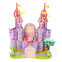 3D Purple Castle Puzzle