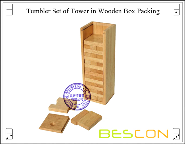 Tumbler Set of Tower in Wooden Box Packing