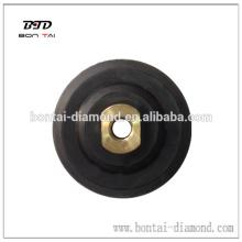 Rubber backer pad for flexible polishing pads hot sale