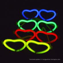 lueur lunettes en forme de coeur