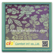 Moda nuevo diseño bonito ningbo cortina del telar jacquar del poliester tela nombres