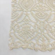 Tela de bordado de guipur de hilo de algodón de tecnología especial