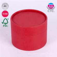 Изготовленный На Заказ Логос Напечатал Коробки Подарка Cosemtic Бумажного Круга Упаковывая