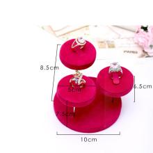 Soporte de exhibición rosado del anillo de la joyería del terciopelo al por mayor (RS-3R-RVC1)