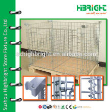 zinc plated wire mesh nesting warehouse dump bins