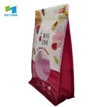 Bolsas con cremallera de plástico reciclado de tela sostenible para alimentos congelados