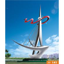 Moderne große Kunst Abstraktes Schiff Edelstahl304 Skulptur für Outdoor Dekoration