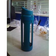 Боросиликатная стеклянная бутылка с наружной и полипропиленовой крышкой PP