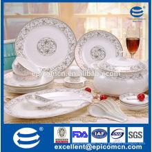 Элегантная роскошная посуда с золотым деколем домашняя посуда новый костяной фарфор