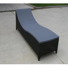 Outdoor High Chaise Lounge Garden Rattan Sunbed