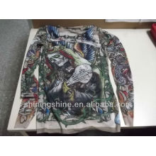 2016 new fashion design hot sell skin tattoo T-shirt and tattoo sleeves