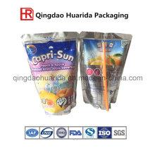 Custom Printed OEM Made Irregular Fruit Shape Plastic Juice Beverage Packaging Pouch Bag