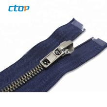 5# anti brass Y teeth zip plating teeth finished brass zippers for handbags  open end zipper pin resin zipper