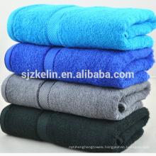 Dobby border cotton terry towel
