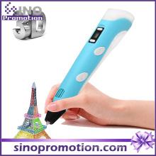 Plástico alto Qulaity 3d inteligentes caneta de impressão doodle