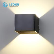 LEDER Simple 5W black LED indoor wall light