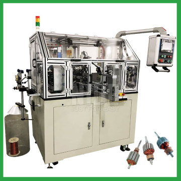 Automatic Armature Double Winding Flyer Rotor Winding Machine