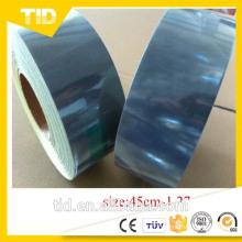 Feuille réfléchissante microprismatique métallisée pour la bande de poteau et la douille de cône