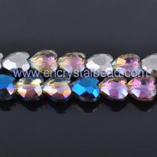 Heart shape jewelry Crystal Bead Strand
