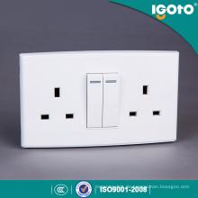 Igoto British Standard Dl3013 Doppel 13A Steckdose mit 2 Gang Switch