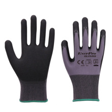 Sandy Nitrile Good Grip Oil-proof Maintenance And Assembly Nylon Work Glove